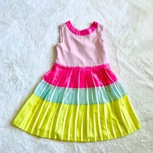 Ted baker Color Block pleated girl dress